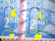 2 ERROR/VARIETY MACHIN GB BLUE 2ND SECURITY 2015 STAMPS M15L MTIL USLITS & 2ND