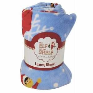 Elf on The Shelf -  Luxury Fleece Snowflake Blanket  100cm x 150cm   UK Seller