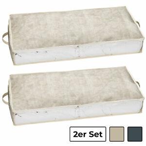 2er Set Unterbettkommode Aufbewahrungstasche - Aufbewahrungsbox, Bett Stauraum