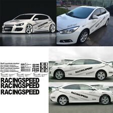 2pcs Car Vinyl  Racing Stripes Body Decals Waistline Garland Whole Body Sticker