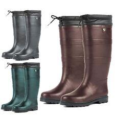 Adults Dublin Outdoor Waterproof Neoprene Rain Country Wellington Boots UK 13-8