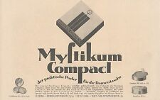 Y4202 MYSTIKUM Compact - Parfumerie Scherk - Pubblicità d'epoca - 1925 Old ad