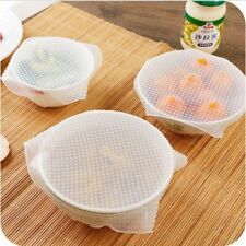 Food Fresh Keeping Wrap Reusable Silicone Wrap Seal Lid Cover Stretch Vacuum