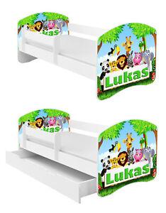 Jugendbett Kinderbett mit einer Schublade und Matratze Weiß 140x70 160x80 180x80