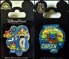 Disney lot 2 Pins TOY STORY Buzz Lightyear & green men + The Claw - Chosen One