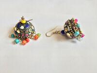 Fashion Vintage Victorian Earrings Dangle Drop Silver Stud Women Jewelry Paste