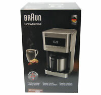 Braun KF7175SI BrewSense Programmable Drip Coffee Maker with LCD Display, Silver