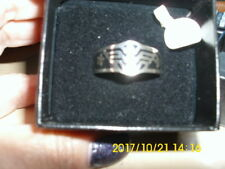 WONDER WOMAN WEDDING BAND LOGO RING; sterling silver size 13 original box