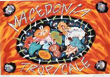 QUADRI :Bruno Donzelli Serigrafia cm. 50 x 70 Macedonia Tropicale, da Collezione