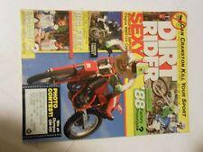JULY 1987 DIRT RIDER MAGAZINE,CAGIVA WMX125,YAMAHA TW200T,KAWASAKI KX250WR,AMA