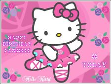 Hello Kitty A4 Size Personalised Edible Icing Cake Topper