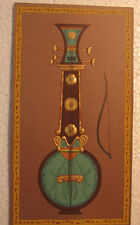 An old look ambosed miniature paper painting of A MUSICAL INSTRUMENT
