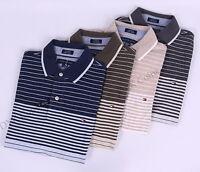 Tommy Hilfiger Men Pique Stripe Short Sleeve Custom Fit Polo Shirt -$0 Free Ship