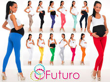 Full Length Maternity Leggings Pants With Pockets High Waist Sizes 8 - 22 LCK