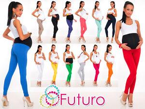 Full Length Maternity Leggings Pants With Pockets High Waist Sizes 8 - 22 LCK