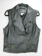 LAL LIVE A LITTLE Black Soft Lamb Leather Vest Women's XL