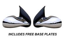 ROVER 25 & MGZR CHROME M3 MANUAL PAIR OF DOOR WING MIRRORS E MARKED BASE PLATES