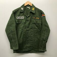 Vintage OG107 Fatigue Shirt, Size Small US Army 1960's J-46
