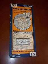 CARTE MICHELIN (1935) VERDUN - SARREBRUCK / ROUTIERE No 57 / TRES BON ETAT