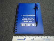 "Note Book Spiral Bound 5.5"" x 7"" With Pen Attachment 69 Pages Lined Both Sides"