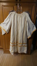 Vintage ANGEL COSTUME Large, Gold Ribbon Trim, Attached Wings,Christmas Pageant