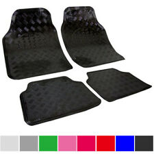 Universal Fußmatte Auto Matten Teppich 4tlg ALU LOOK Autoteppiche Schwarz 7106