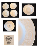 "VINTAGE Wedgwood Bone China Dinnerware 6.5"" Bread Plates PATRICAN Set of 4"