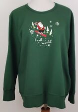 7dd4b55c Just My Size Christmas Sweatshirt Sweater Ugly Plus Size 1X Women Green  Santa