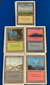 MTG Magic the Gathering Unlimited Edition Basic Lands * LOT of 79 * Light Play