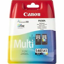 Genuine Canon PG 540 & CL 541 Ink - Black & Colour Ink Cartridges Value Pack