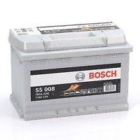 BOSCH S5008 TYPE 096 CAR BATTERY - 12V 77AH 780A - 5 YEAR WARRANTY