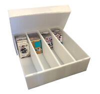 Max Pro Corrugated PLASTIC 3200 Monster Trading Card Storage Box - White Color