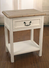 2 x Bedside Tables Hamptons French Provincial White Side Chest Night Stand NEW