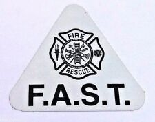 F.A.S.T. Reflective Helmet Decals - 20 - Firefighter Assisted Search Team -Black