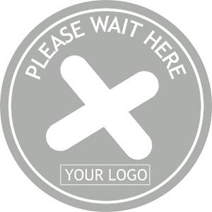 Social Distancing Floor Sticker/Decals- Anti Slip, Custom Logo, Please Wait Here