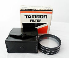 GENUINE VINTAGE TAMRON 52MM CLOSE UP 1+2+3 FILTER KIT WITH LEATHERCASE,PAPER BOX