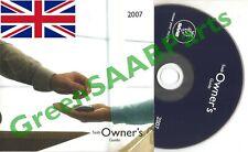 SAAB 9-3 9-5 9-7X Owners Guide Handbook CD G.B. 2007 Edition Genuine SAAB