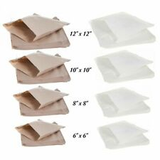 More details for brown kraft white sulphite strung paper bags sandwich grocery food bag