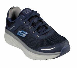 Skechers Extra Wide Width Navy Shoes Men Memory Foam Cushion Comfort Walk 232044