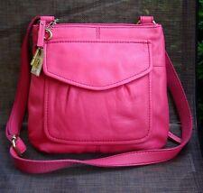 NWT Fossil Modern Cargo Fuchsia Leather Organizer Crossbody Bag - Retail $148