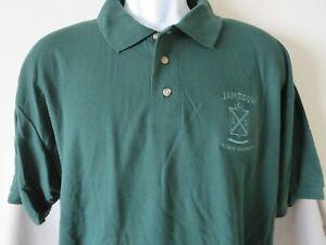Jameson Irish Whiskey Polo Shirt Mens Green Short Sleeve Embroidery Mint Size XL