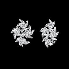 Flower Zircon Woman Earrings Eb849 925Sterling Silver Fashion Jewelry Finger