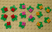Lego  Multi Coloured Flowers / Plants,  Flowers Bundle - 15 Pieces