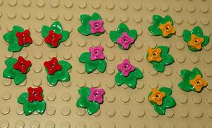 Lego  Multi Coloured Flowers / Plants,  Flowers Bundle - 15 Pieces