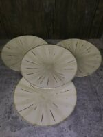 "Pier 1 One Imports Stoneware Sanctuary Tan Salad Plates 8 3/8"" set of 4"