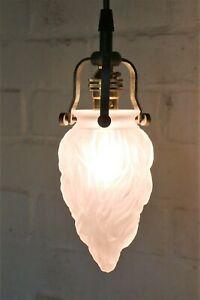 Ceiling Light A Small Antique Flame Opaque Glass Pendant Art Deco Antique Style