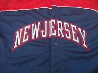 Nike New Jersey Nets Short Sleeve Warmup Jersey Adult XL Sewn Letters