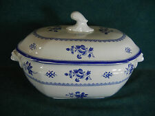 Spode Gloucester Blue Large Rectangular Covered Soup Tureen with Lid