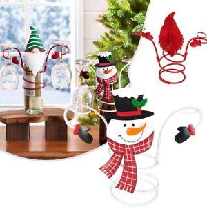 Christmas wine Glass Holder Iron wine glass holder For Christmas Party Decor UK