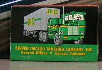 Vintage Matchbook Cover Y2 Denver Colorado Chicago Illinois Trucking Truck Coast